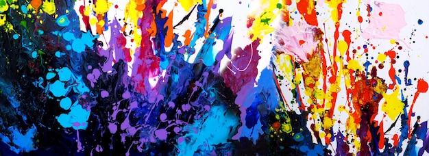 Pittura colorata disegnata a mano arte astratta panorama sfondo colori texture su tela