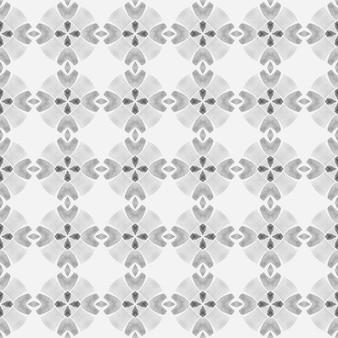 Bordo senza giunte del mosaico verde disegnato a mano. design estivo boho chic attraente in bianco e nero. stampa impressionante pronta per il tessuto, tessuto per costumi da bagno, carta da parati, involucro. reticolo senza giunte del mosaico.