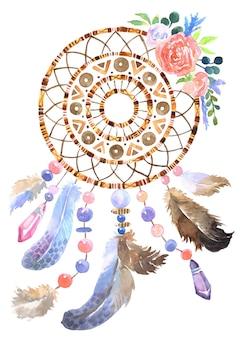 Illustrazione disegnata a mano di dreamcatcher