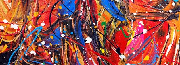 Illustrazione disegnata a mano di disegno di struttura di colori del fondo di panorama di arte astratta della pittura