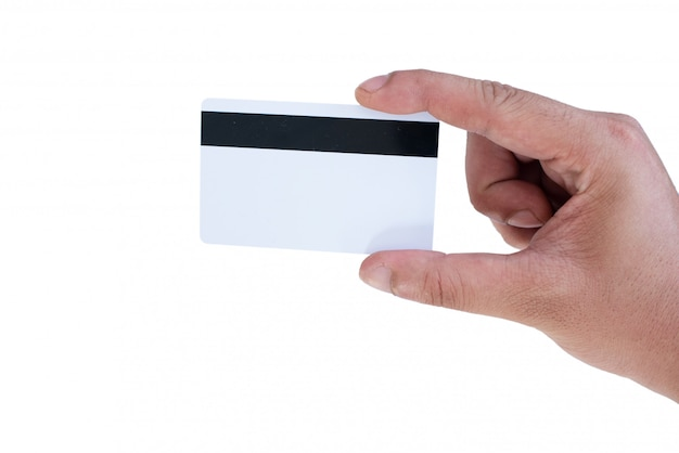 Tenere in mano mockup carta di credito