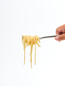 Linea di spaghetti del rotolo della maniglia della forcella della tenuta della mano