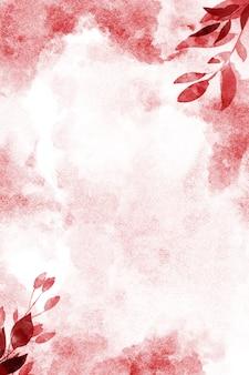 Fondo floreale dipinto a mano, carta digitale delle foglie dell'acquerello