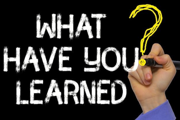 La scrittura a mano il testo: cosa hai imparato?