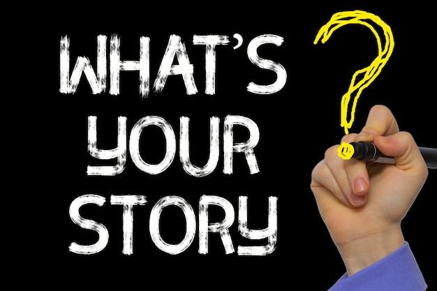 La scrittura a mano il testo: whatãâ¢ã'â€ã'â™s la tua storia?