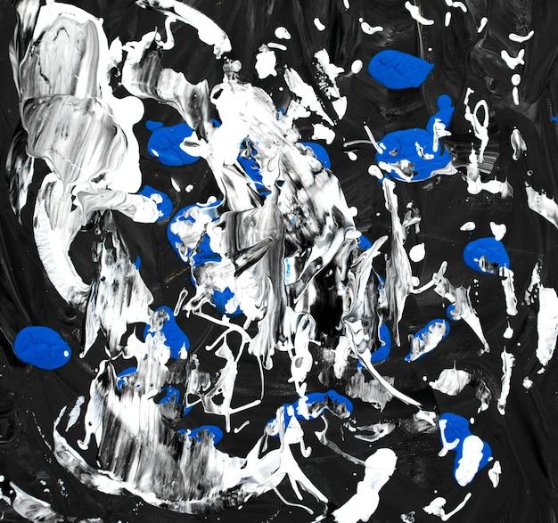 Opera d'arte disegnata a mano fatta a mano sfondo dipinto astratto arte liquida fluida acrilica blu