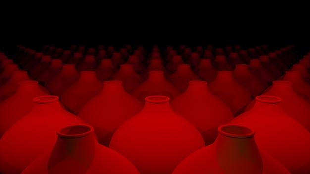 Ceramiche fatte a mano. rendering 3d
