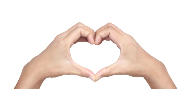 Mani che fanno segno cuore