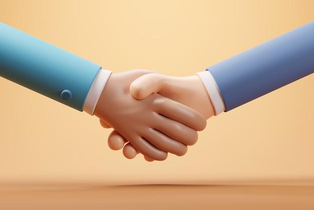 Stretta di mano dei partner commerciali accordo riuscito