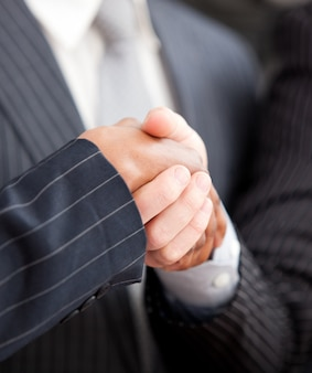 Stretta di mano tra due uomini d'affari