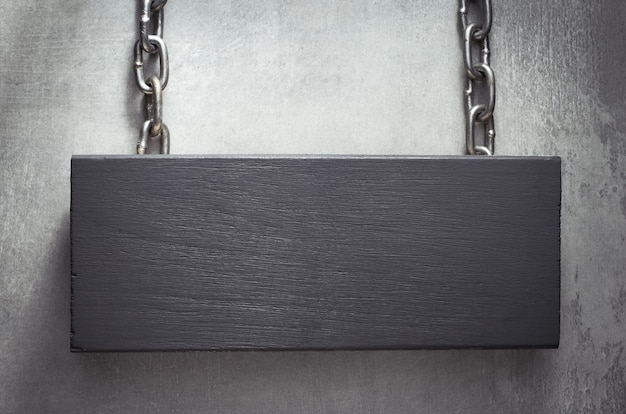 Cartello da appendere con catena in metallo