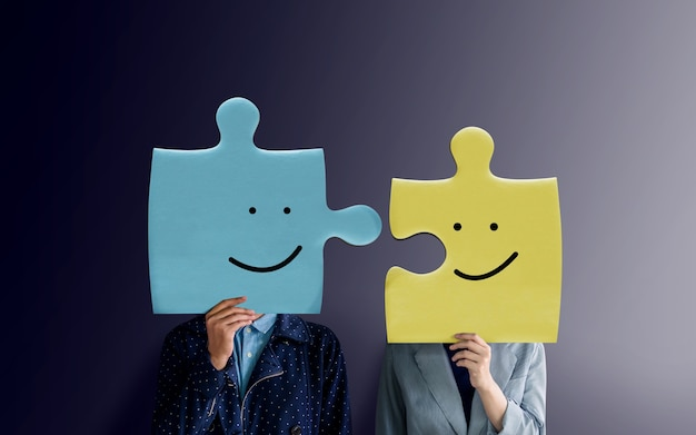 Coppie di felicità o concetto di associazione di affari