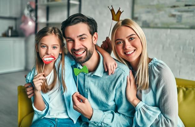 Famiglia felice Foto Premium