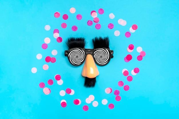 Happy fools day concept 1 ° aprile festa carta di vacanza.