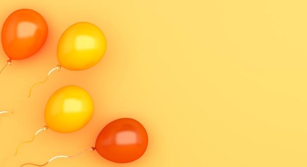 Fondo felice della decorazione di vendita di autunno o di halloween con palloncini arancioni con lo spazio della copia