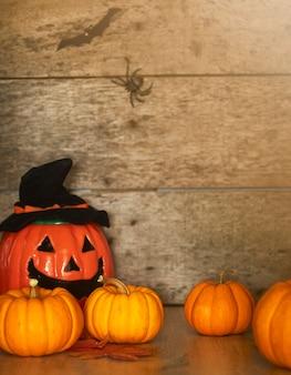 Decorazione di bordo di legno felice di halloween