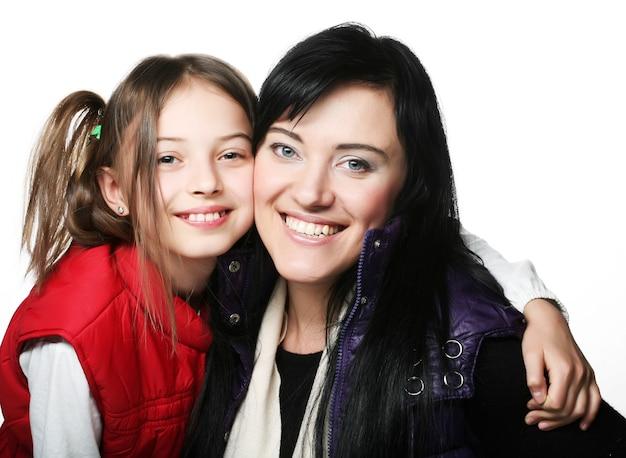 Madre felice e sua figlia