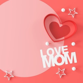Progettazione di banner per la festa della mamma felice.