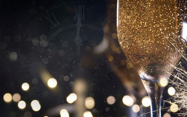 Felice anno nuovo 2020. sfondo di vacanze di natale e capodanno, stagione invernale.
