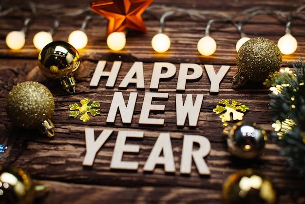 Felice anno nuovo 2021. simbolo dal numero 2021 su fondo in legno