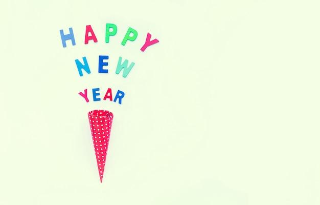 Concetti di felice anno nuovo con testo