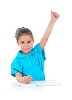 Felice studentessa di successo