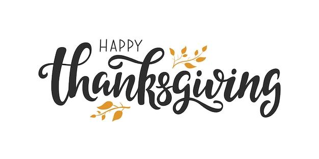 Citazione scritta happy thanksgiving day modello di biglietto di auguri scritto a mano per il giorno del ringraziamento