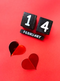 Buon san valentino 2021. calendario e cuore