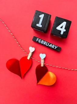 Buon san valentino 2021. calendario e cuori