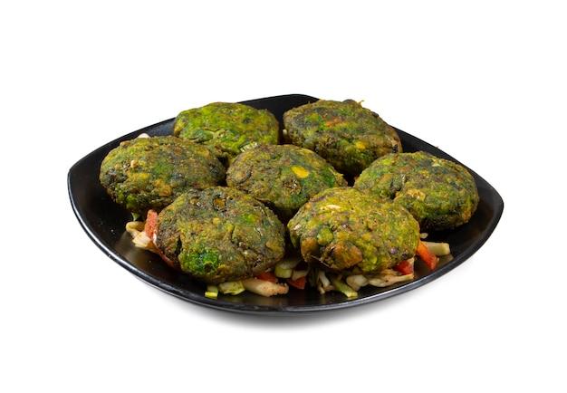 Hara bhara kabab o kebab è uno spuntino vegetariano indiano