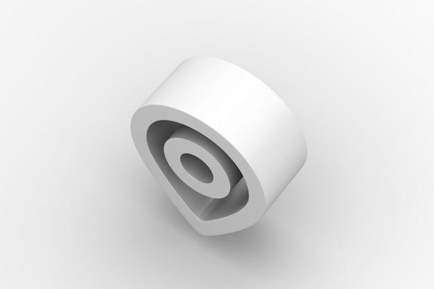 Immagine di rendering 3d posizione bordo duro
