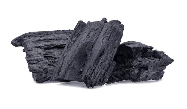 Carbone di legno duro isolato