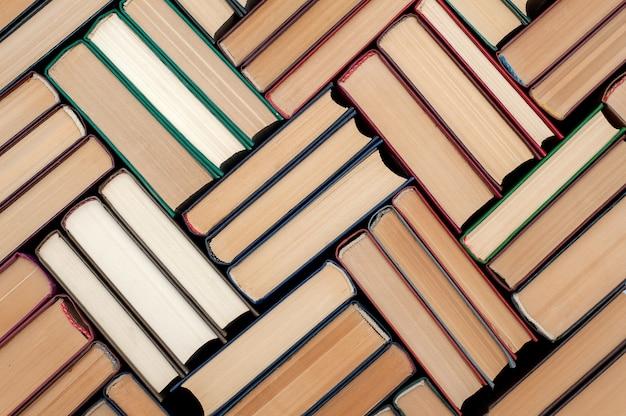 Dettagli sullo sfondo dei libri con copertina rigida