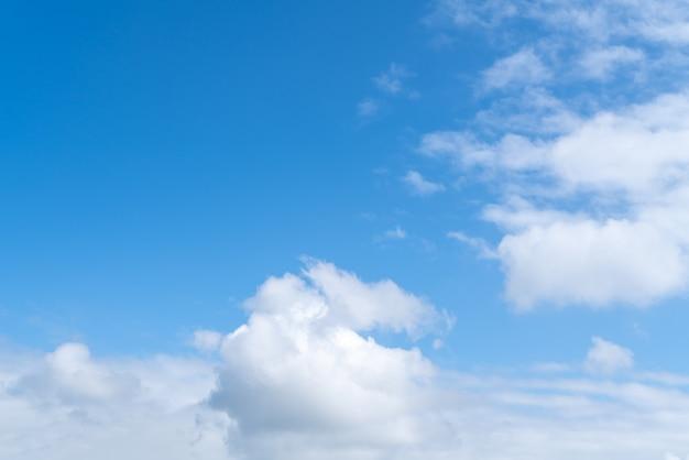 Materiale di sfondo hd cielo blu e nuvole bianche