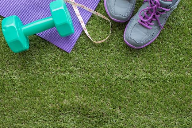 Concetto di salute e fitness per fare sfondo