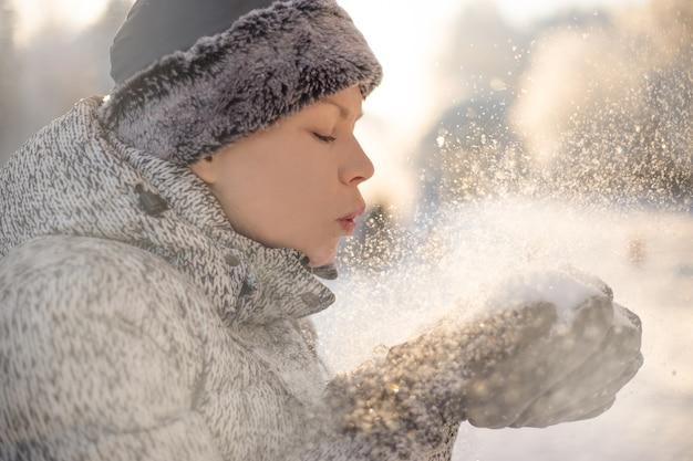 Alito sano. ritratto di tempo freddo. concetto di inverno