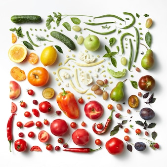 Sfondo di mangiare sano