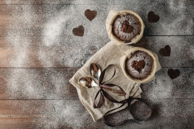 Cupcakes al cioccolato senza glutine sani
