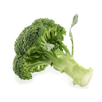 Fiorellini crudi organici verdi sani dei broccoli pronti per la cottura isolati su bianco