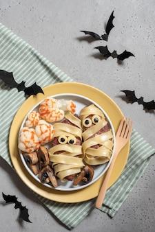 Pranzo sano di halloween per bambini