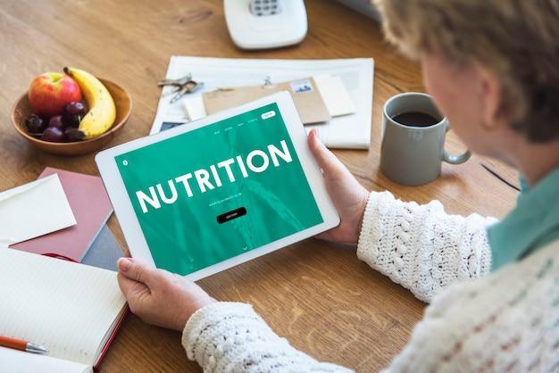 Interfaccia della pagina web online stile di vita sano