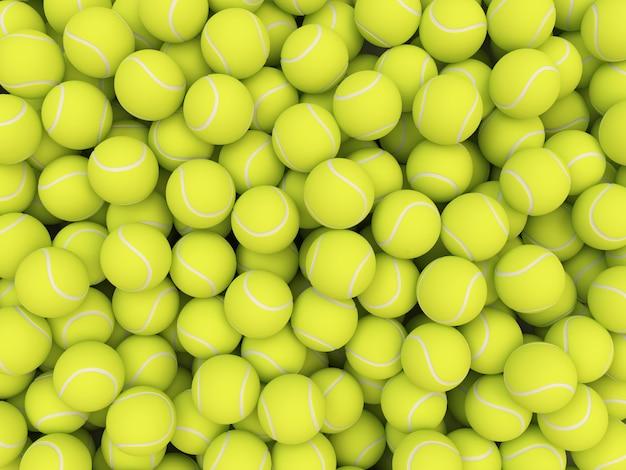 Mucchio di palline da tennis