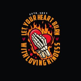 Illustrazione di bruciare il cuore
