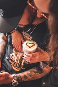 Caffè a forma di cuore