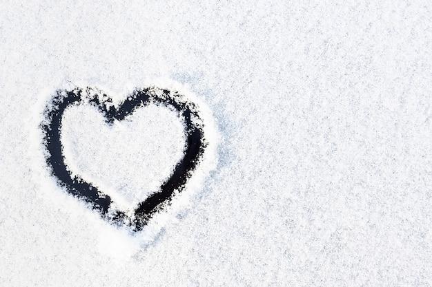 Automobile della neve di struttura del cuore