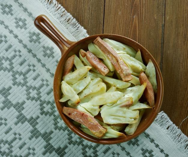 Helppo kinkkukiusaus - patate al forno finlandesi con prosciutto