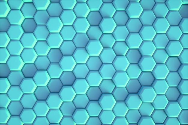 Esagono blu modello astratto sfondo moderno.