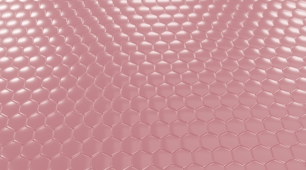 Sfondo rosa esagonale.