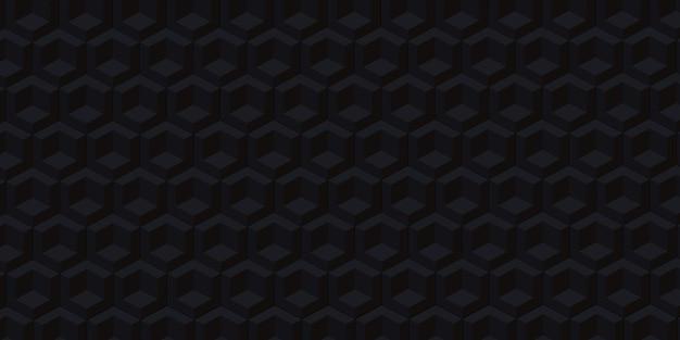 Il pixel esagonale blocca l'illustrazione moderna del concetto di scena del fondo astratto di tecnologia 3d