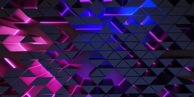 Illustrazione 3d del fondo dell'estratto di scena di tecnologia del fondo del quadrato di esagono premium